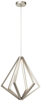 Picture for category Pendants Light With Satin Nickel Finish Steel Material LED Bulb Type size 27 inch