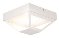 Picture for category Semi Flush 1 Light With Matt White Tone Finish Intergrated Bulb Type size 8 inch