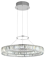 Picture for category Chandeliers 1 Light With Chrome Finished Steel Material Intergrated Bulb 25 inch