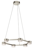 Picture for category Pendants Light With Brushed Nickel Finished Steel Material LED Bulb size 2 inch