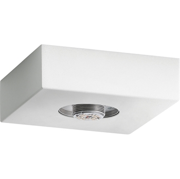 Picture of Flush Mounts 1 Light With Textured White Finish Steel Material Intergrated Bulb 14 inch
