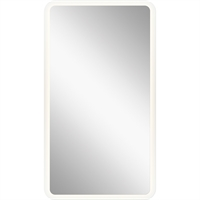 Picture for category Mirrors With Clear White Finish Steel Drum Material LED Frosted Edge Glass Bulbs 35 inch