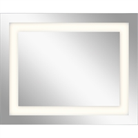 Picture for category Mirrors With Clear White Finish Steel Drum Material LED Frosted Edge Glass Bulbs 30 inch