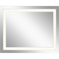 Picture for category Mirrors With Clear White Finish Steel Drum Material LED Frosted Edge Glass Bulbs 32 inch
