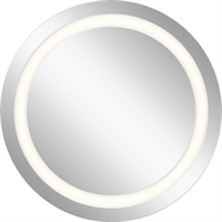 Picture for category Mirrors With Clear White Finish Steel Drum Material LED Frosted Edge Bulbs 33 inch