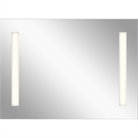 Picture for category Mirrors With Clear White Finish Steel Drum Material LED Frosted Edge Glass Bulbs 26 inch