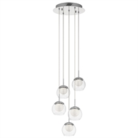Picture for category Chandeliers 5 Light With Chrome Finished Steel Material Intergrated Bulb 12 inch