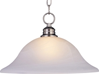 Picture for category Pendants 1 Light Bulb Fixture With Satin Nickel Finish Iron Material Medium Bulbs 16 inch 100 Watts