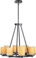 Picture for category Chandeliers 8 Light Bulb Fixture With Rustic Ebony Finish Steel Material Medium Bulbs 29 inch 800 Watts
