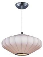 Picture for category Pendants 1 Light Bulb Fixture With Polished Chrome Tone Finish MB Bulb Type 16 inch 60 Watts