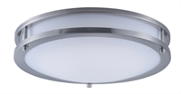 Picture for category Flush Mounts 1 Light Bulb Fixture With Satin Nickel Finish Steel and Opal Acrylic Material PCB Bulbs 14 inch 20 Watts