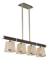 Picture for category RLA Maxim RL-163721 Chandeliers Antique Pecan and Satin Brass Steel+Wood Maritime
