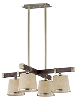 Picture for category RLA Maxim RL-163837 Chandeliers Antique Pecan and Satin Brass Steel+Wood Maritime