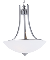 Picture for category Pendants 3 Light Bulb Fixture With Satin Nickel Finish Steel Material MB Bulbs 13 inch 180 Watts