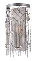 Picture for category Wall Sconces 1 Light Bulb Fixture With Silver Mist Finish Steel Material CA Bulbs 8 inch 60 Watts
