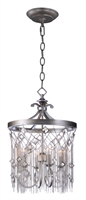 Picture for category Chandeliers 4 Light Bulb Fixture With Silver Mist Finish Steel Material CA Bulbs 16 inch 240 Watts