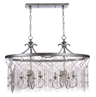 Picture for category Chandeliers 8 Light Bulb Fixture With Silver Mist Finish Steel Material CA Bulbs 16 inch 480 Watts