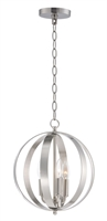 Picture for category Pendants 3 Light Bulb Fixture With Satin Nickel Finish Steel Material CA Bulbs 12 inch 180 Watts
