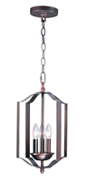 Picture for category Pendants 3 Light Bulb Fixture With Oil Rubbed Bronze Finish Steel Material CA Bulbs 10 inch 180 Watts