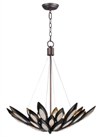 Picture for category Pendants 8 Light Bulb Fixture With Burnished Bronze Finish Metal Material G9 Bulbs 31 inch 320 Watts