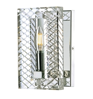Picture for category Wall Sconces 1 Light Bulb Fixture With Polished Nickel Finish Metal  Stainless Steel Material CA Bulbs 6 inch 60 Watts