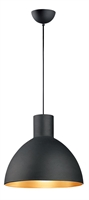 Picture for category Pendants 1 Light Bulb Fixture With Black and Gold Finish Steel Material MB Bulbs 20 inch 60 Watts