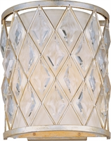Picture for category Wall Sconces 2 Light Bulb Fixture With Golden Silver Finish Metal Material G9 Bulbs 9 inch 120 Watts