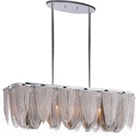 Picture for category Island 7 Light Bulb Fixture With Polished Nickel Finish Metal Material G9 Bulbs 13 inch 280 Watts