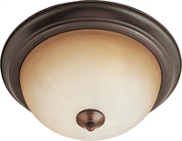 Picture for category Flush Mounts 2 Light Bulb Fixture With Oil Rubbed Bronze Finish Iron Material Medium Bulbs 14 inch 150 Watts