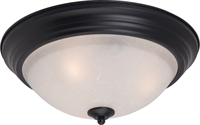 Picture for category Flush Mounts 3 Light Bulb Fixture With Black Finish Iron Material Medium Bulbs 16 inch 180 Watts
