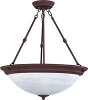Picture for category Pendants 3 Light Bulb Fixture With Oil Rubbed Bronze Finish Iron Material Medium Bulbs 15 inch 300 Watts