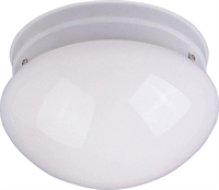 Picture for category Flush Mounts 1 Light Bulb Fixture With White Finish Iron Material Medium Bulbs 8 inch 60 Watts