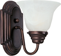 Picture for category Wall Sconces 1 Light Bulb Fixture With Oil Rubbed Bronze Finish Aluminum Material Medium Bulbs 6 inch 100 Watts