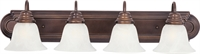 Picture for category Bathroom Vanity 4 Light Bulb Fixture With Oil Rubbed Bronze Finish Aluminum Material Medium Bulbs 30 inch 400 Watts