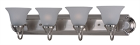 Picture for category Bathroom Vanity 4 Light Bulb Fixture With Satin Nickel Finish Aluminum Material Medium Bulbs 30 inch 400 Watts