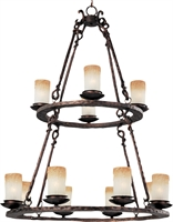 Picture for category Chandeliers 12 Light Bulb Fixture With Oil Rubbed Bronze Finish Iron Material Candelabra Bulbs 32 inch 720 Watts