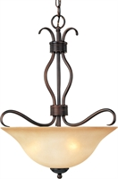 Picture for category Pendants 3 Light Bulb Fixture With Oil Rubbed Bronze Finish Iron Material Medium Bulbs 17 inch 300 Watts