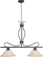 Picture for category Island 2 Light Bulb Fixture With Oil Rubbed Bronze Finish Iron Material Medium Bulbs 13 inch 200 Watts