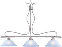 Picture for category Island 3 Light Bulb Fixture With Satin Nickel Finish Iron Material Medium Bulbs 13 inch 300 Watts