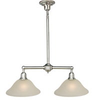 Picture for category Island 2 Light Bulb Fixture With Satin Nickel Finish Steel Material Medium Bulbs 13 inch 200 Watts