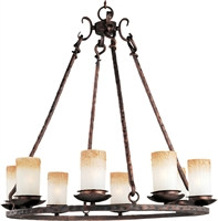 Picture for category Chandeliers 8 Light Bulb Fixture With Oil Rubbed Bronze Finish Iron Material Candelabra Bulbs 30 inch 480 Watts