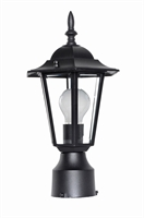 Picture for category Outdoor Post Light Bulb Fixture 1 Light Bulb Fixture With Black Finish Die Cast Aluminum Material Medium Bulbs 8 inch 100 Watts