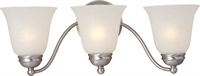 Picture for category Bathroom Vanity 3 Light Bulb Fixture With Satin Nickel Finish Iron Material Medium Bulbs 19 inch 300 Watts