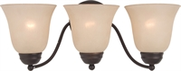 Picture for category Bathroom Vanity 3 Light Bulb Fixture With Oil Rubbed Bronze Finish Iron Material Medium Bulbs 19 inch 300 Watts