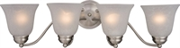 Picture for category Bathroom Vanity 4 Light Bulb Fixture With Satin Nickel Finish Iron Material Medium Bulbs 28 inch 400 Watts