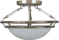 Picture for category Semi Flush 3 Light Bulb Fixture With Pewter Finish Iron Material Medium Bulbs 15 inch 300 Watts