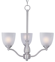 Picture for category Chandeliers 3 Light Bulb Fixture With Satin Nickel Finish METAL Material MB Bulbs 21 inch 180 Watts