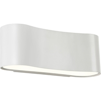 "Picture for category Wall Sconces 1 Light Fixture With Textured White Finish Satin White Metal LED 13"" 21 Watts"