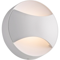 "Picture for category Wall Sconces 1 Light Fixture With Textured White Finish Textured White Aluminum LED 5"" 3 Watts"