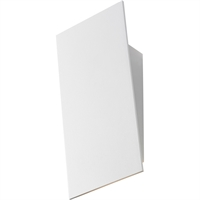 "Picture for category Wall Sconces 1 Light Fixture With Textured White Finish White Shade Integrated LED 4"" 13 Watts"